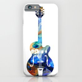 Vintage Guitar - Colorful Abstract Musical Instrument iPhone Case