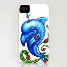 Dolphin Blue iPhone (4, 4s) Slim Case