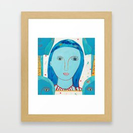 Recycle Queen Blue Framed Art Print