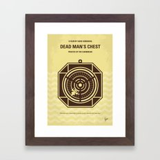 No494-2 My Pirates of the Caribbean II minimal movie poster Framed Art Print