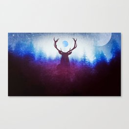 Spirit of the Forest // Space Deer // Watcher of the Forests Canvas Print