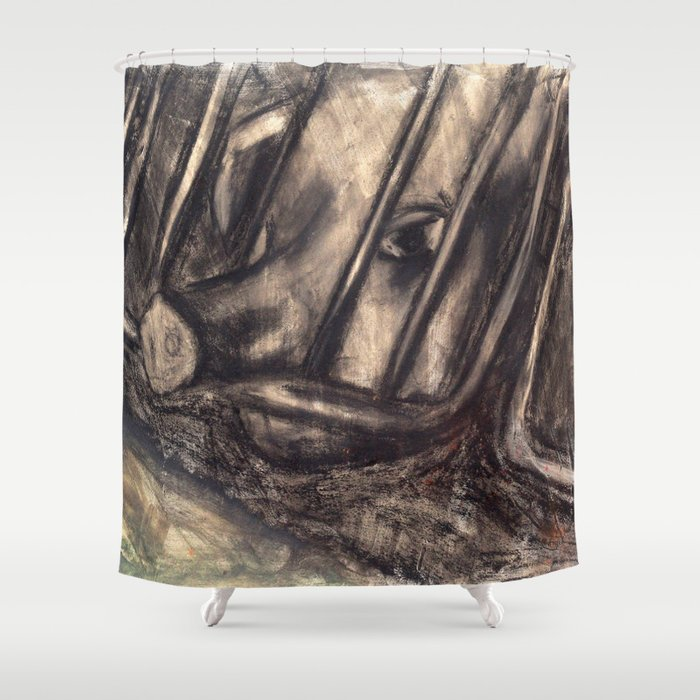 Sario Painter Animal Farm Shower Curtain