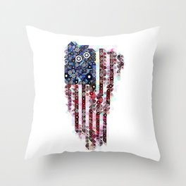 :: Star Spangled Banner :: Throw Pillow