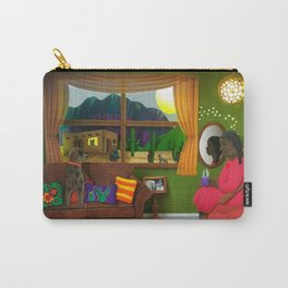 Abuela's Childhood Memories Paper Art Carry-All Pouch