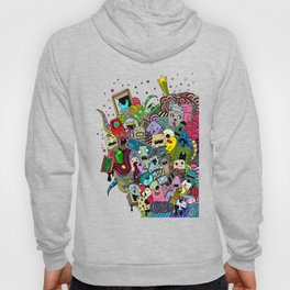 Hand-drawn little funny monsters Hoody
