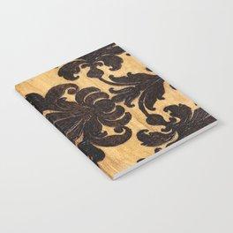 Wood Burnt Damask Notebook