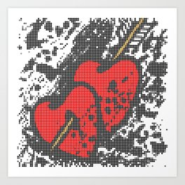Two hearts with arrow Art Print