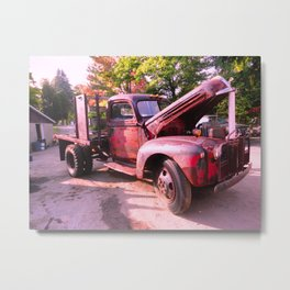 Rusty Ford Classic Antique Truck Metal Print