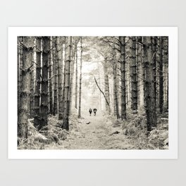 Forest Walk II Art Print