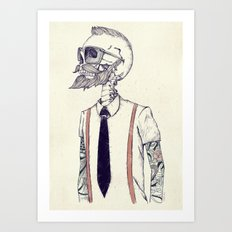 The Gentleman becomes a Hipster  Art Print