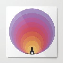 Bunny Rabbit Sunrise Metal Print