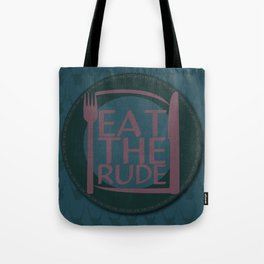 Eat The Rude (Navy) Tote Bag