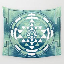 Sri Yantra Sky Mandala Wall Tapestry