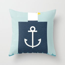 Eagle Captain Throw Pillow