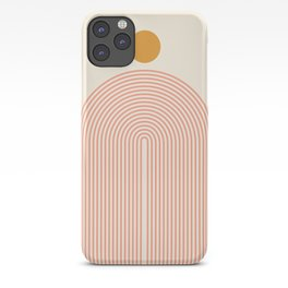 Abstraction_SUN_LINES_VISUAL_ART_Minimalism_001 iPhone Case