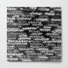 Spidery Lines Inverse Metal Print