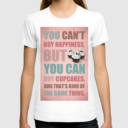 Cupcakes: Typography T-shirt