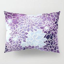 Space Dahlias Purple Ice Pillow Sham