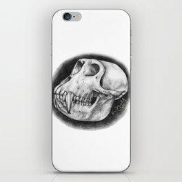 Baboon Skull Drawing iPhone Skin