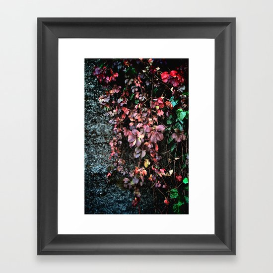 Red Leaf Framed Art Print