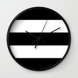 Black Rugby Stripes Wall Clock