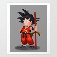 goku Art Prints featuring Goku by hectordanielvargas