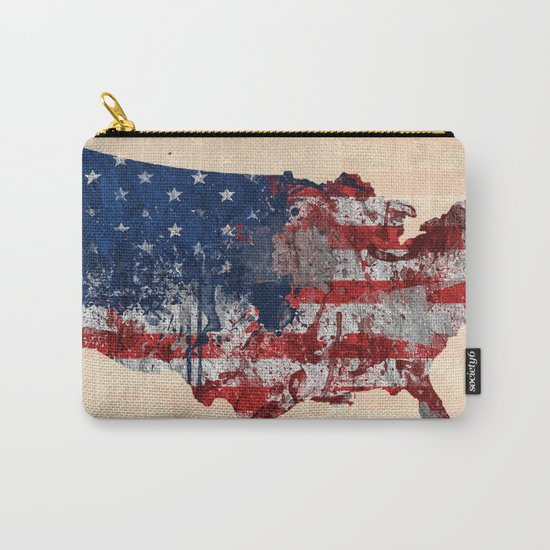 map USA  Carry-All Pouch