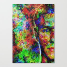 Colorful digital abstract portrait art Canvas Print