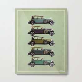 Five Cadillacs Metal Print