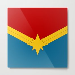 CAPTAINMARVEL Metal Print