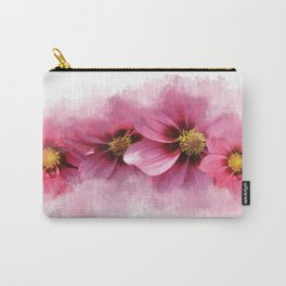 Watercolor painted Dahlias Carry-All Pouch