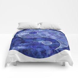 Blue Yin & Yang Mandala Comforters