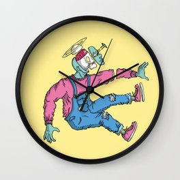 OPEN MINDED: LASER SPACER Wall Clock