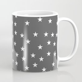 Dark grey background with white stars seamless pattern Coffee Mug