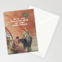 Lawrence Alma-Tadema, Unconscious Rivals (1893) / Halsey, Strangers ft. Lauren Jauregui (2017) Stationery Cards