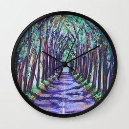 Kauai Tree Tunnel Wall Clock