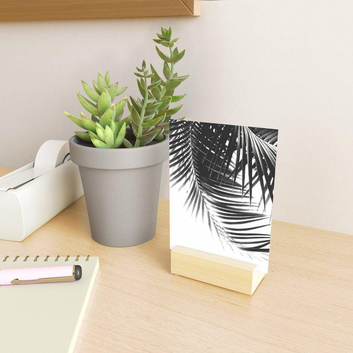 Palm Leaves Black & White Vibes #1 #tropical #decor #art #society6 Mini Art Print