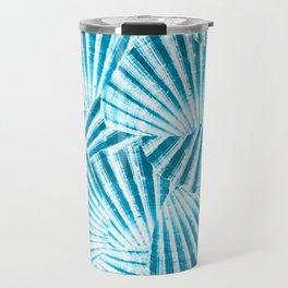 Blue Seashell Travel Mug