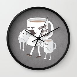 Good Dads Drink Coffee Wall Clock