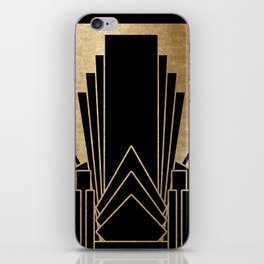Art deco design iPhone Skin
