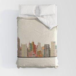 memphis skyline Comforters