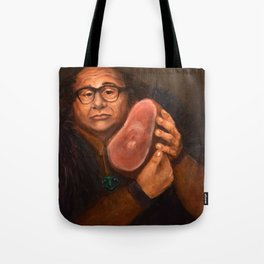 Danny DeVito with his beloved ham Tote Bag