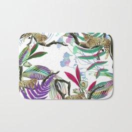 texture of print fabric striped leopard Bath Mat