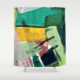 Hopeful[3] - a bright mixed media abstract piece Shower Curtain