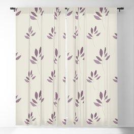 AFE Purple Leaves Blackout Curtain