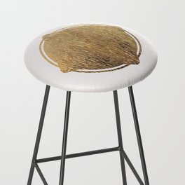 Gold Squircle Bar Stool