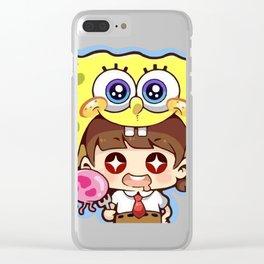 Chibi Spongebob Cosplay Clear iPhone Case