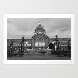 San Francisco City Hall BW Art Print