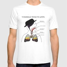 VISIBLE TOM WAITS Mens Fitted Tee White LARGE