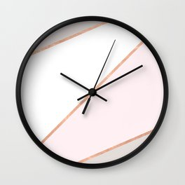 GEO ROSEGOLD PASTEL Wall Clock